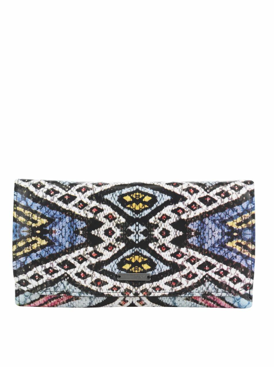 Černo-krémová peněženka se vzorem Roxy My Long Eyes