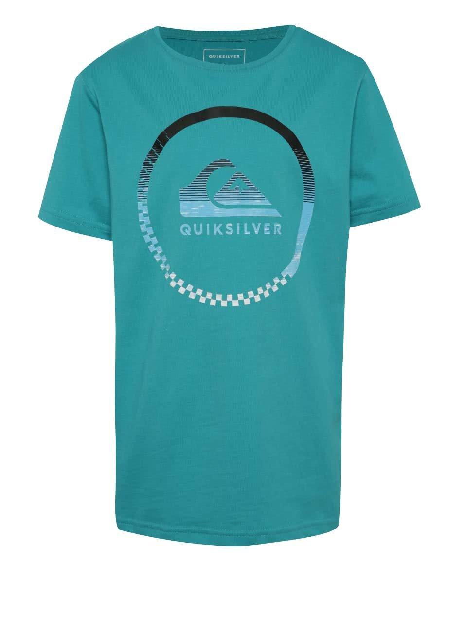Zelené klučičí triko s krátkým rukávem Quiksilver