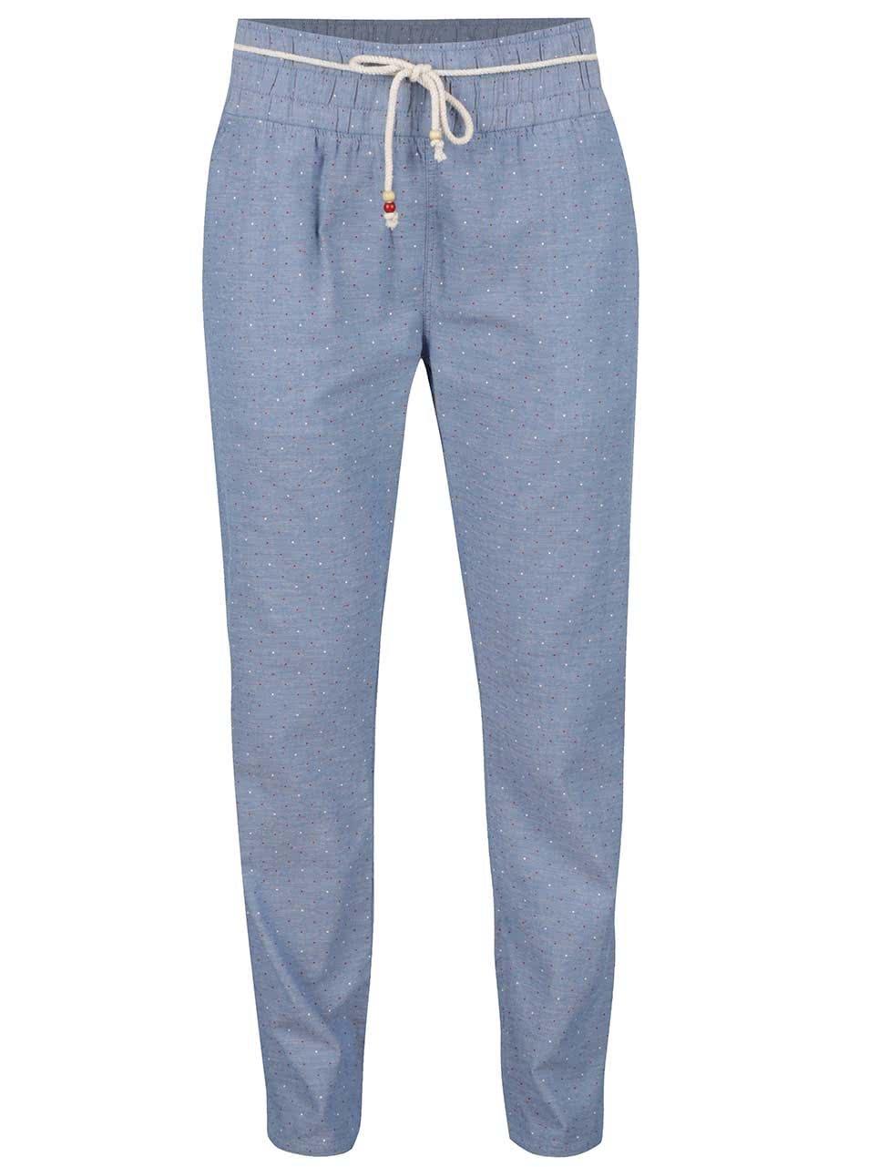 Modré dámské puntíkované kalhoty Horsefeathers Super Summer
