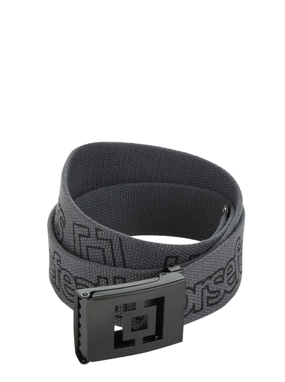 Tmavě šedý pánský pásek s potiskem Horsefeathers Idol