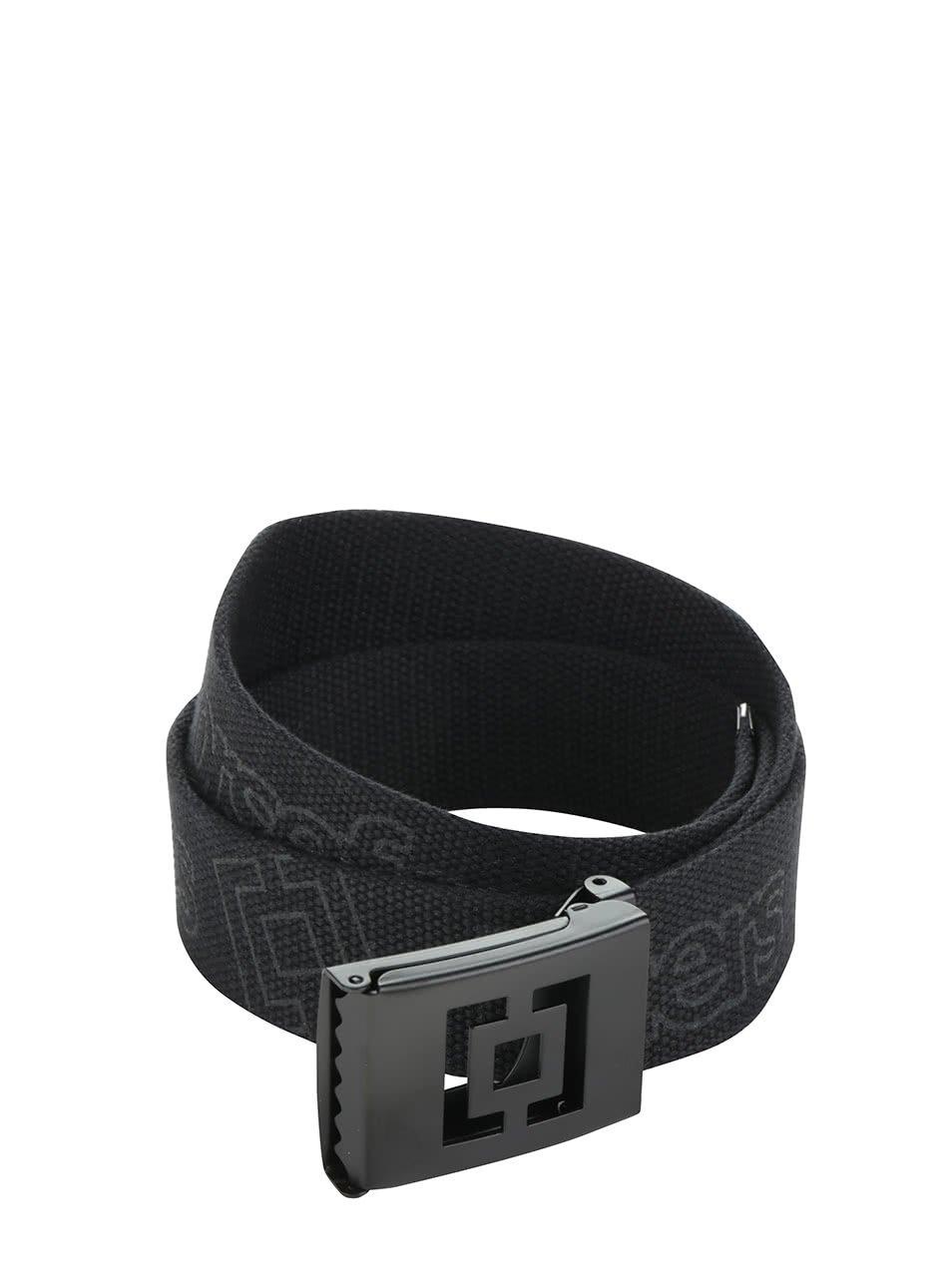 Černý pánský pásek s potiskem Horsefeathers Idol