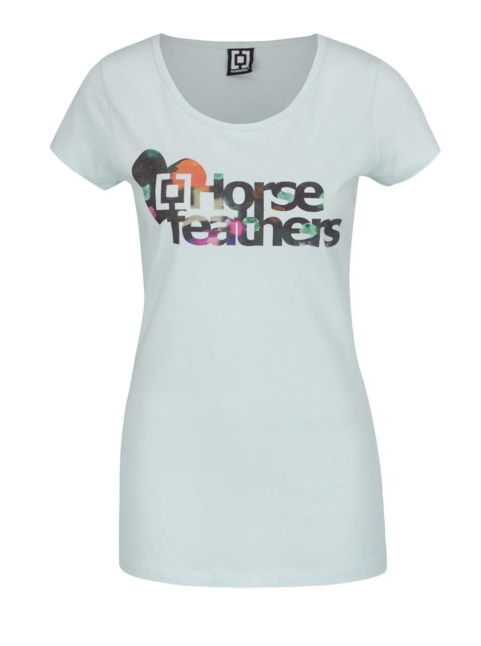 Světle modré dámské tričko Horsefeathers Nia