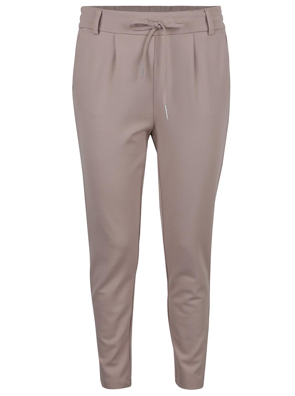 Světle hnědé kalhoty ONLY Poptrash