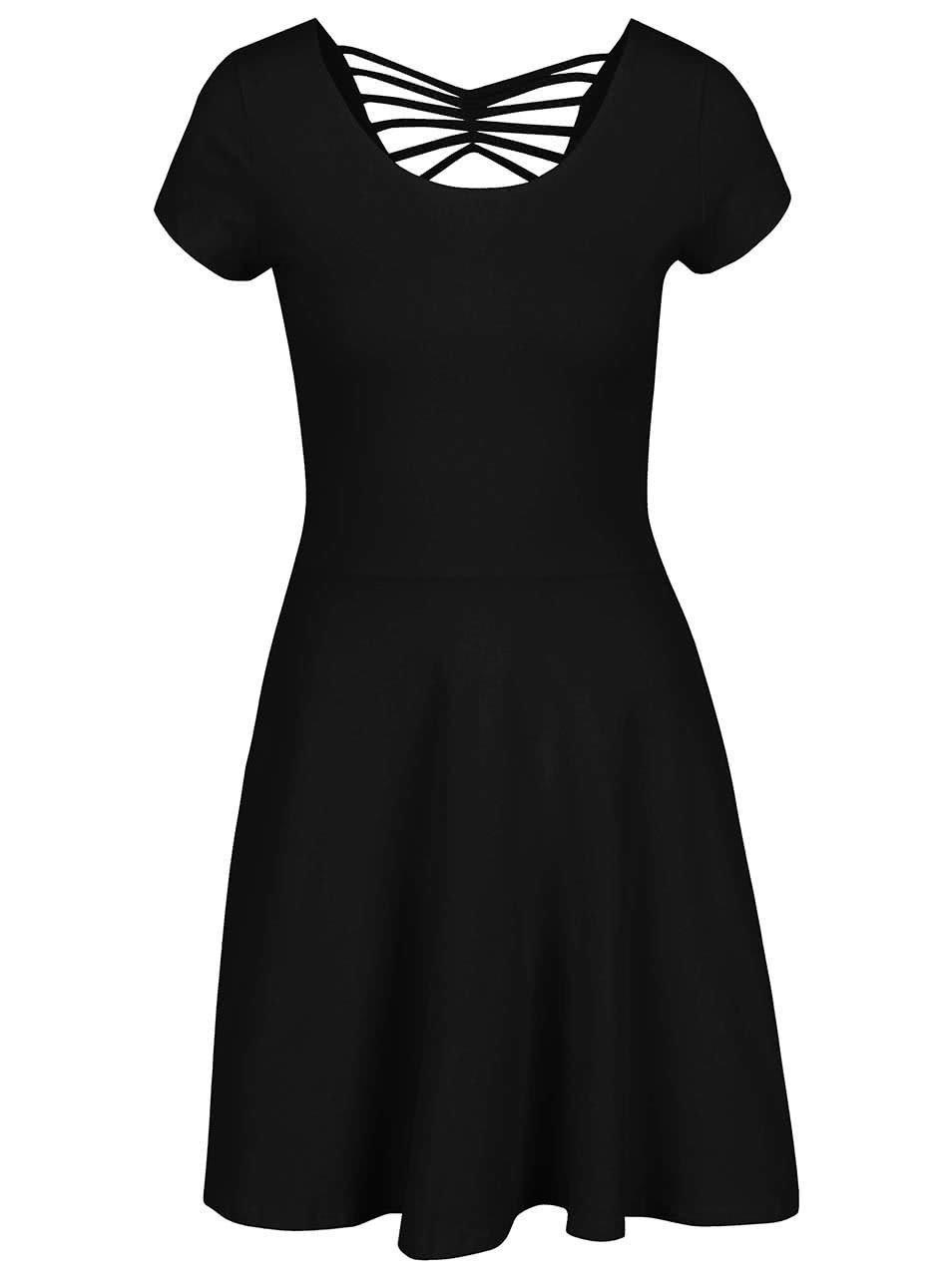 Černé šaty s pásky na zádech TALLY WEiJL