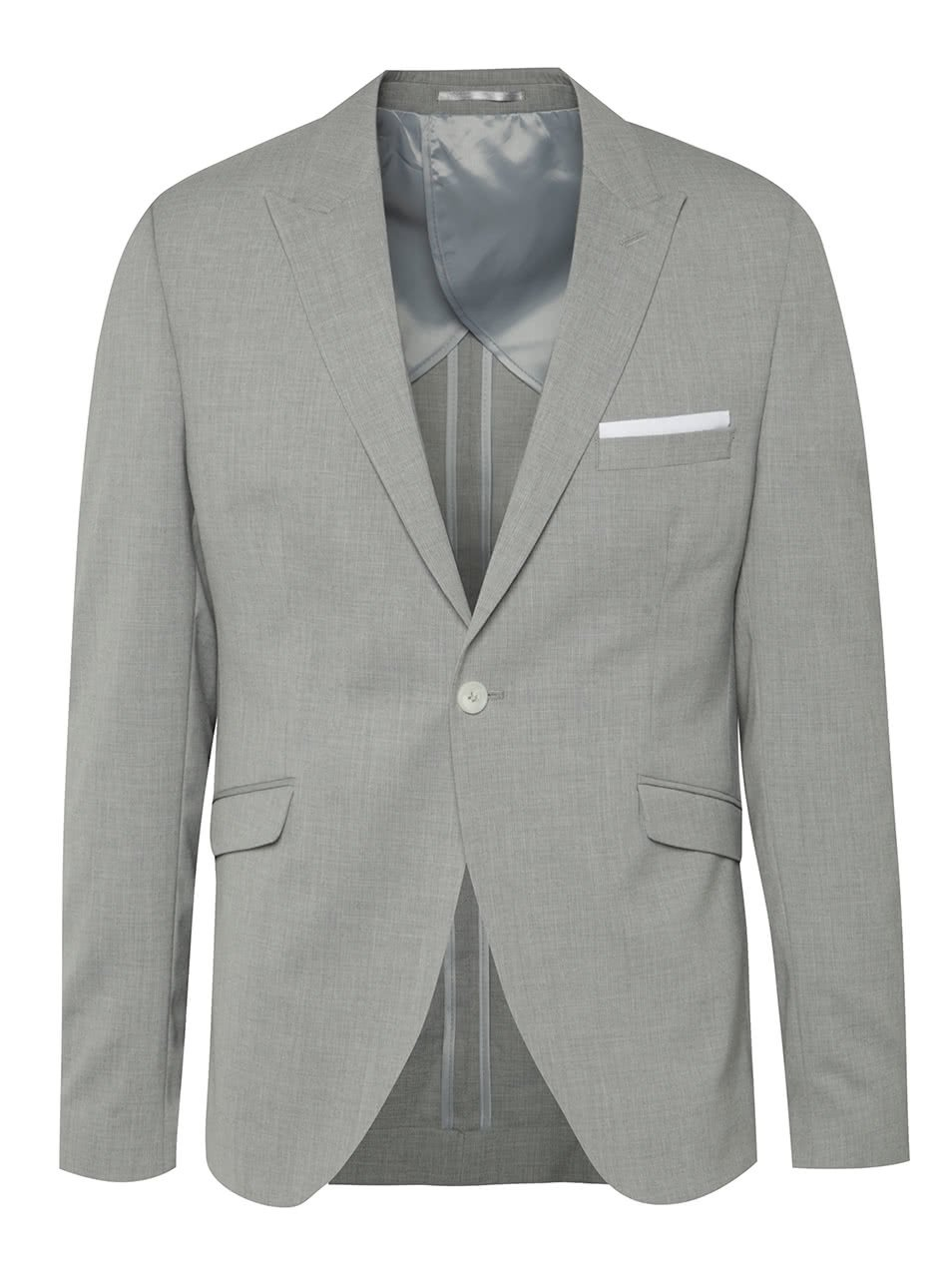 Světle šedé oblekové sako Selected Homme Done-Summerpeak