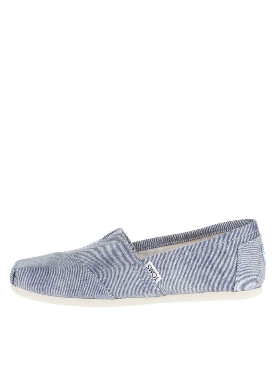 Světle modré dámské loafers TOMS