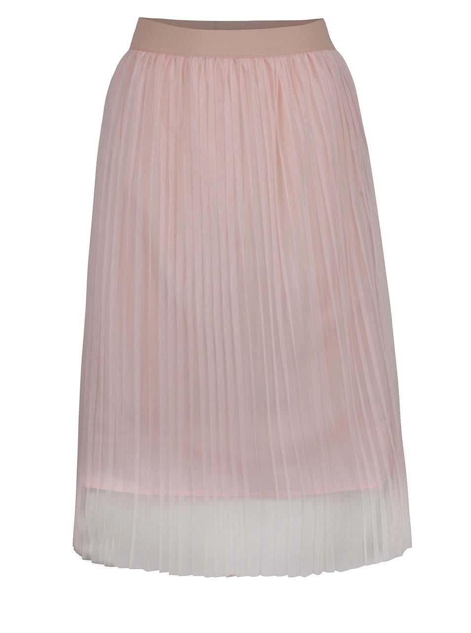 Starorůžová tylová plisovaná midi sukně TALLY WEiJL