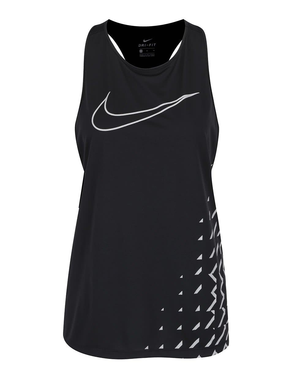 Černé dámské tílko s potiskem Nike