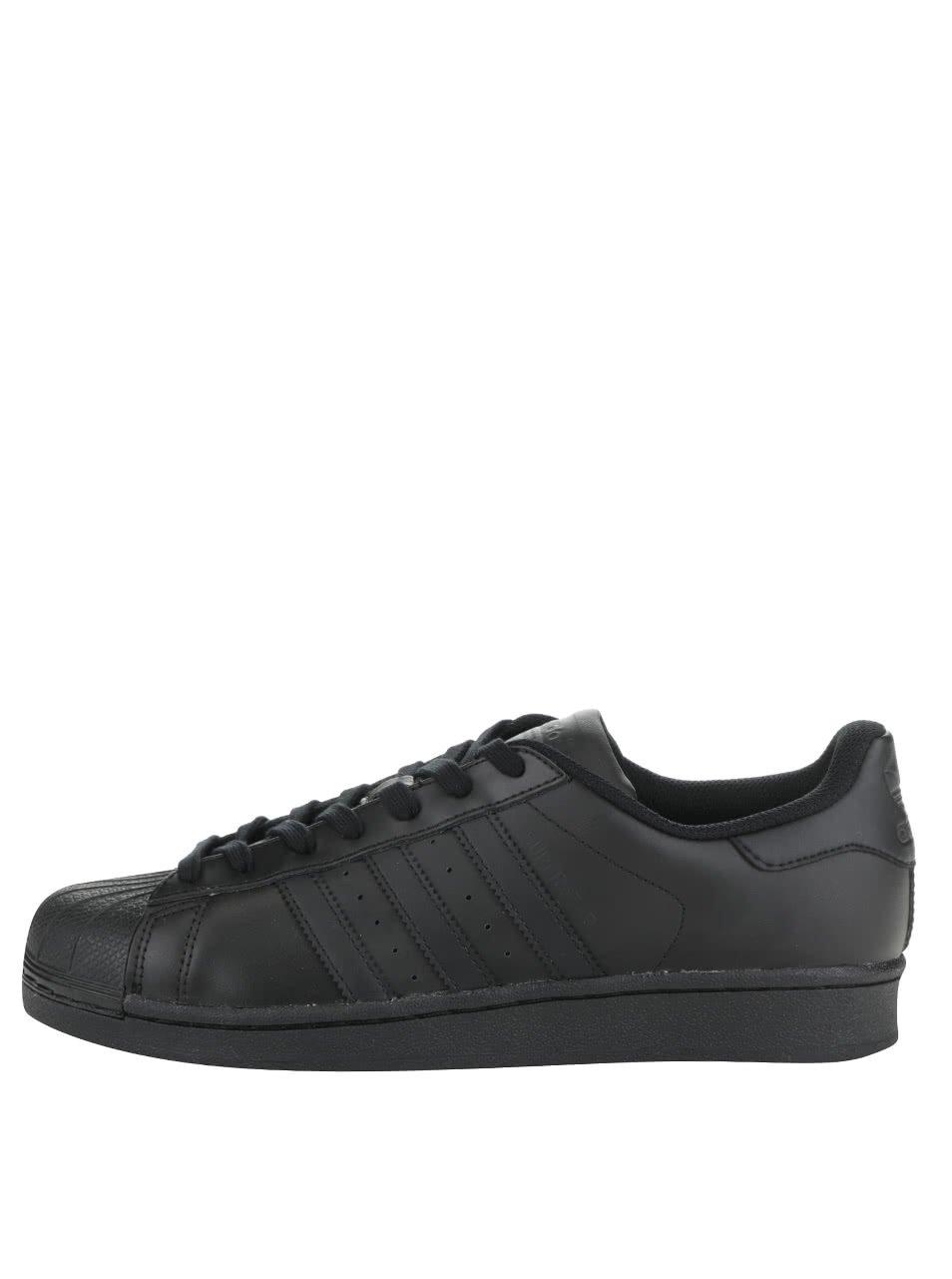 Černé pánské kožené tenisky adidas Originals Superstar