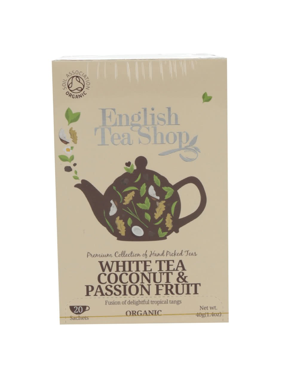 Bílý čaj English Tea Shop Coconut Bio