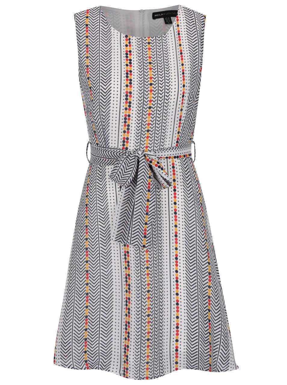 Černo-bílé vzorované šaty Mela London