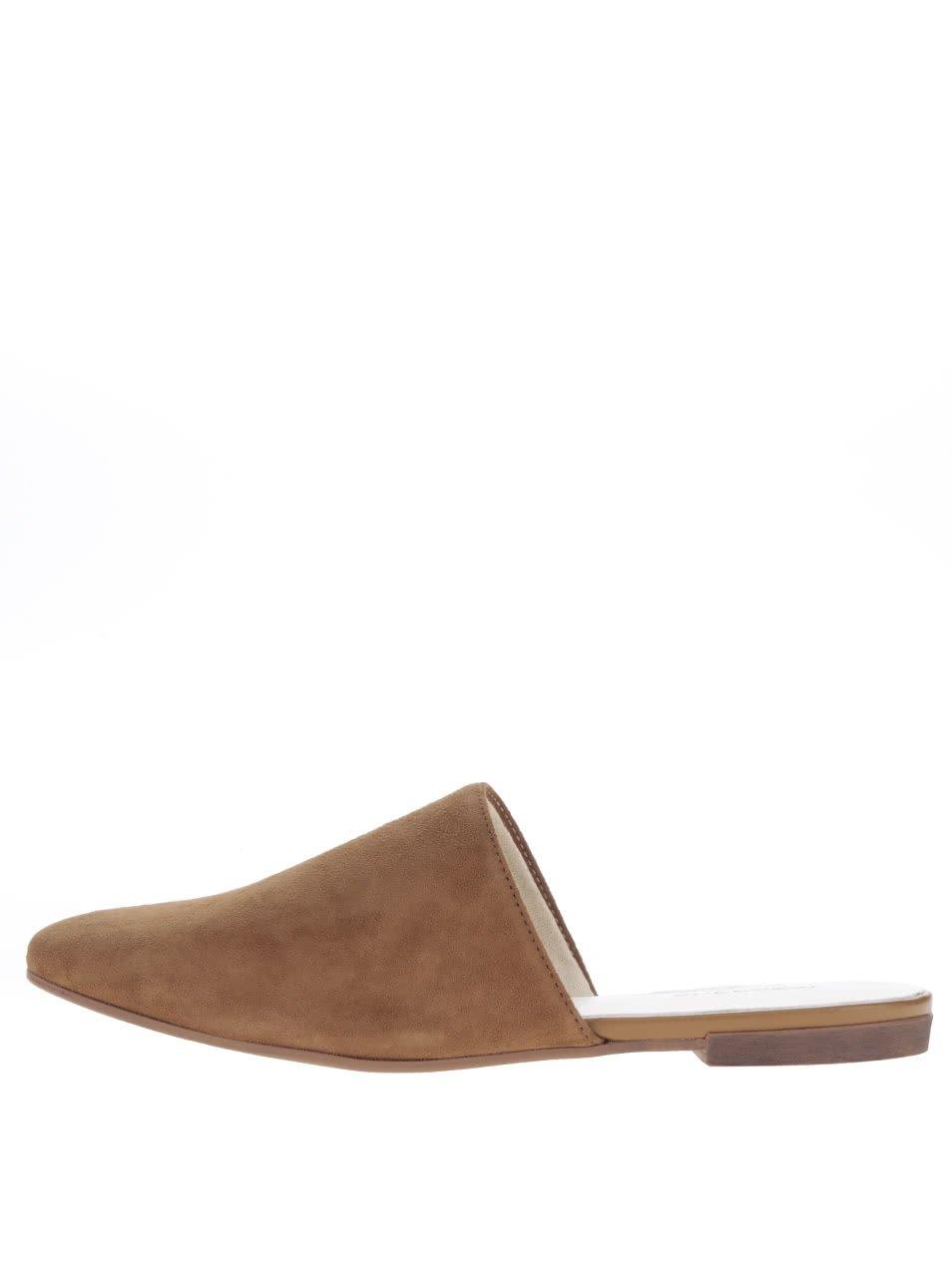 Hnědé dámské semišové nazouvací boty Vagabond Ayden