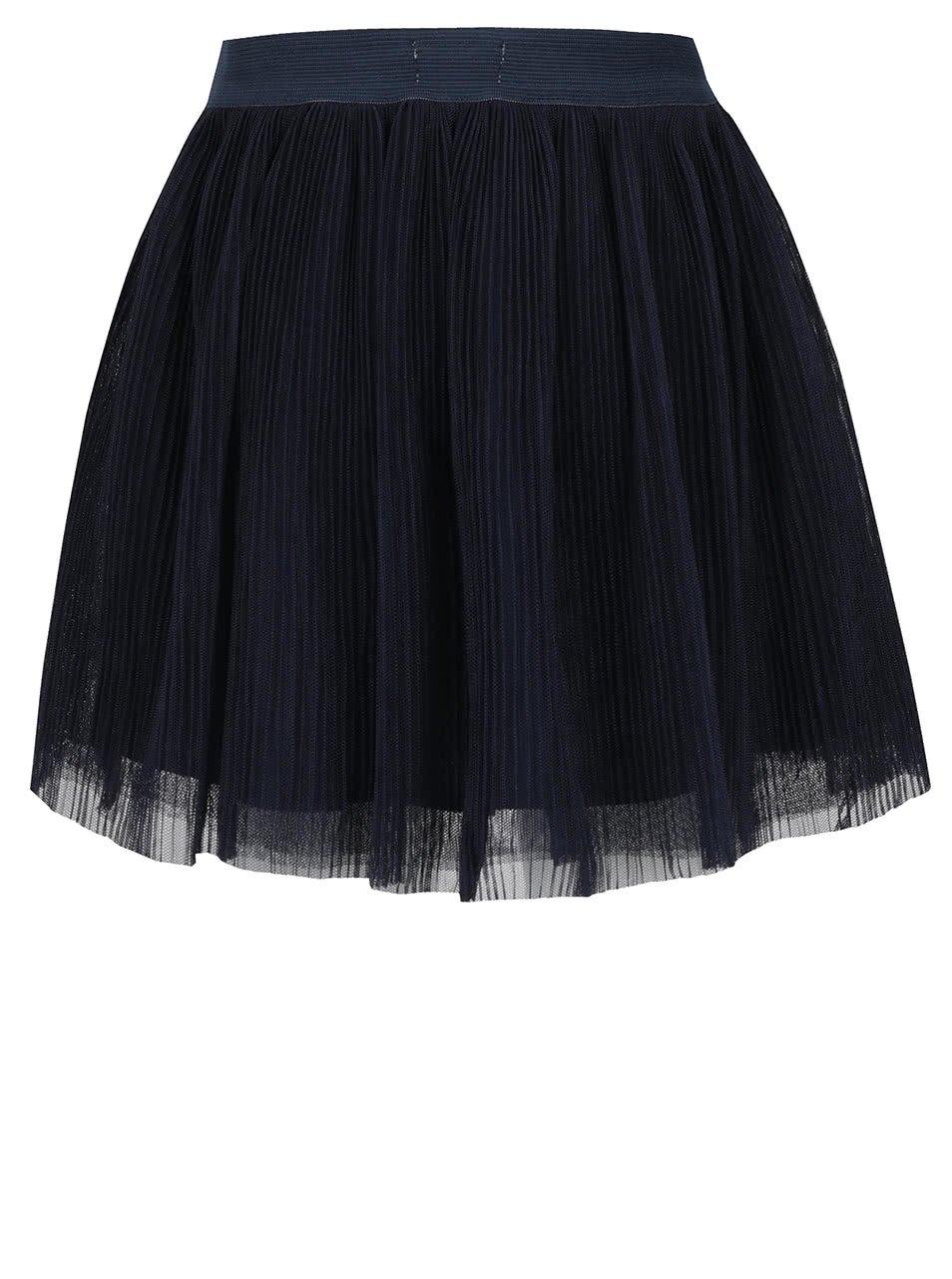 Tmavě modrá holčičí tylová plisovaná sukně name it Hitta
