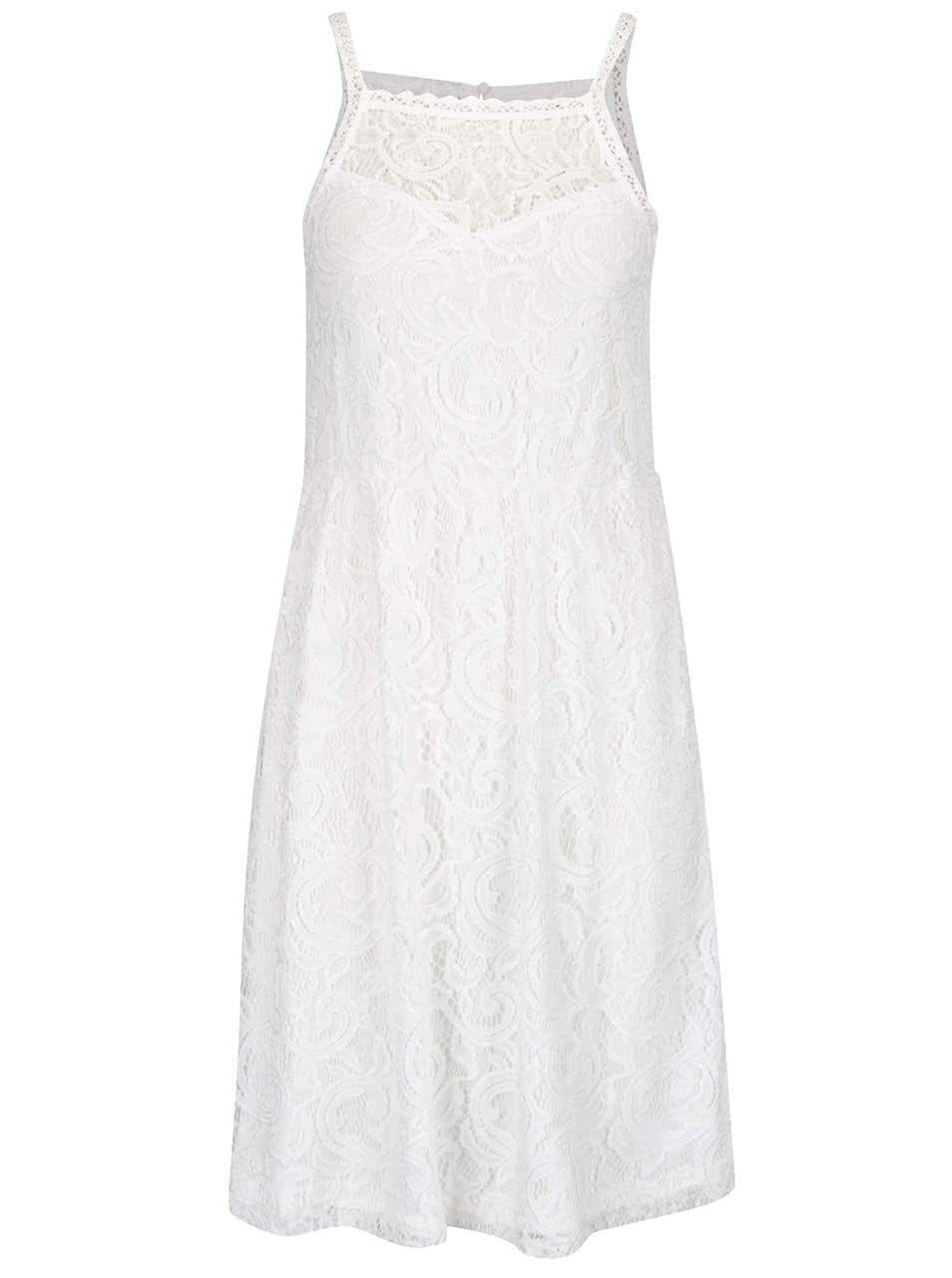 Krémové krajkové šaty VERO MODA Thea