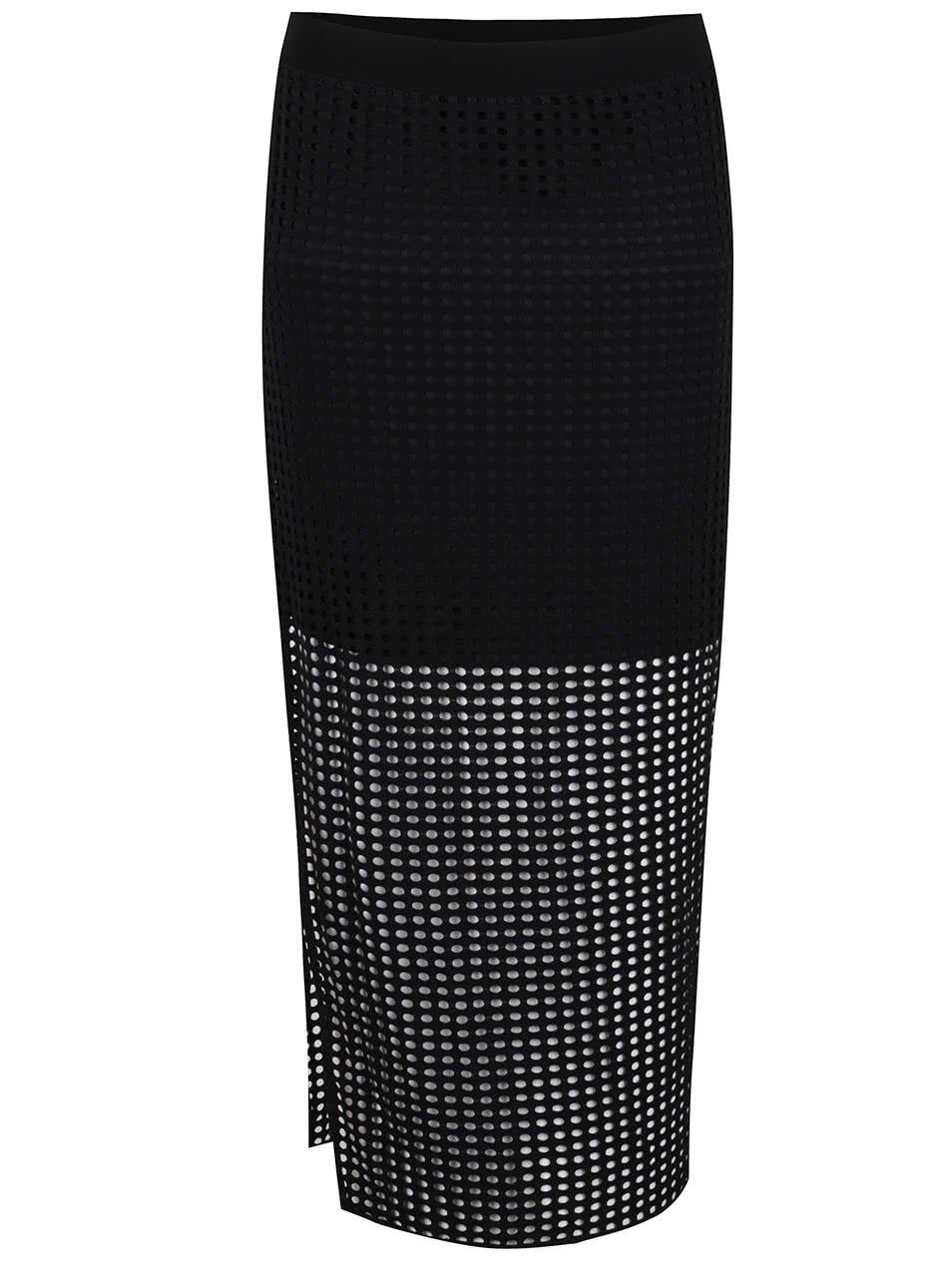 Černá perforovaná sukně Bench