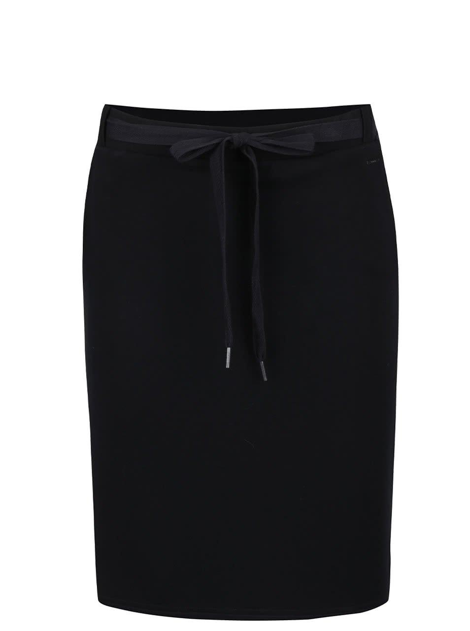 Černá sukně s kapsami a vázáním na mašli Bench