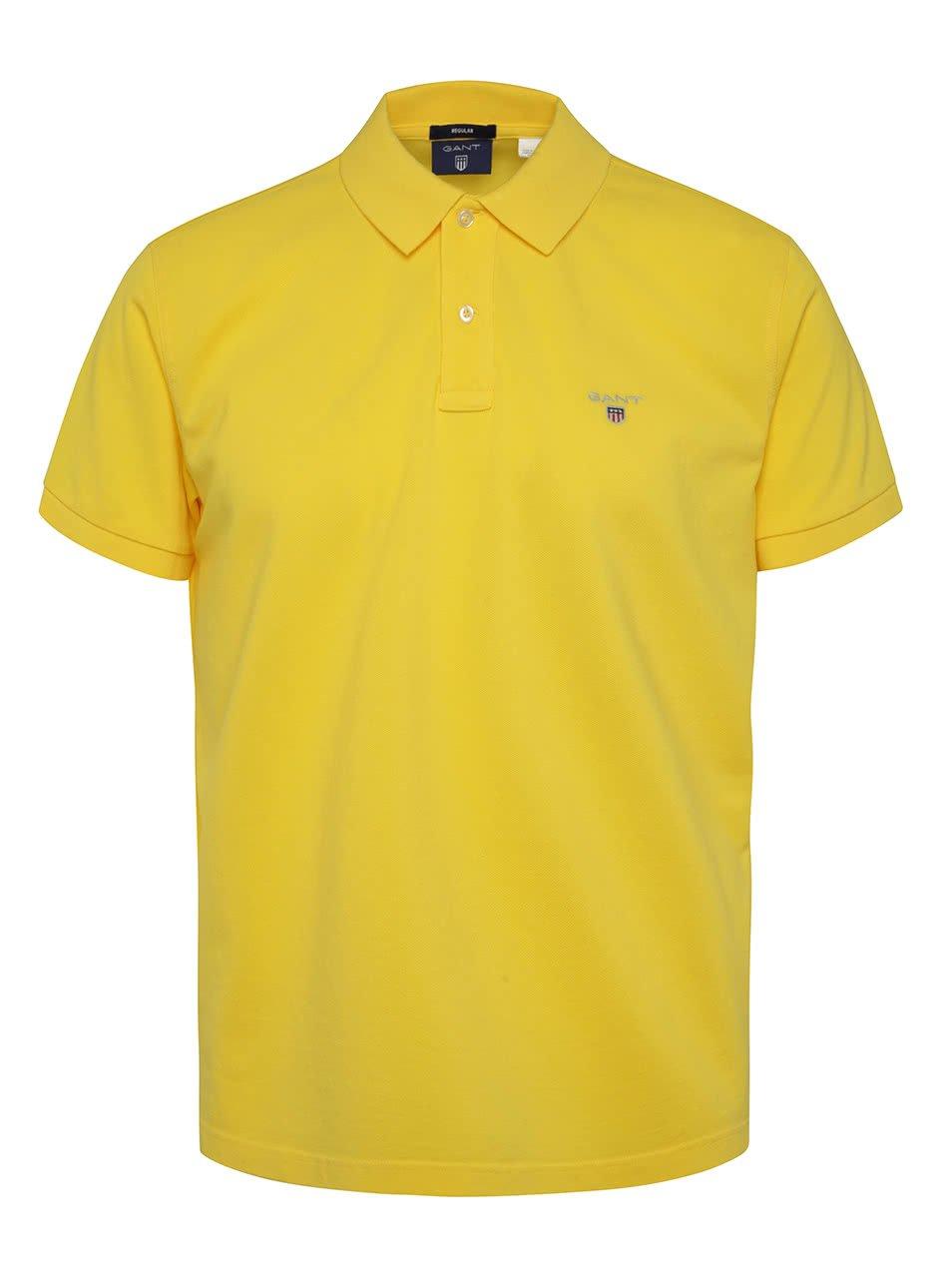 Žluté pánské polo triko GANT Original Pique