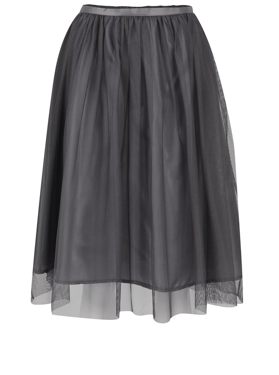 Tmavě šedá tylová sukně ZOOT