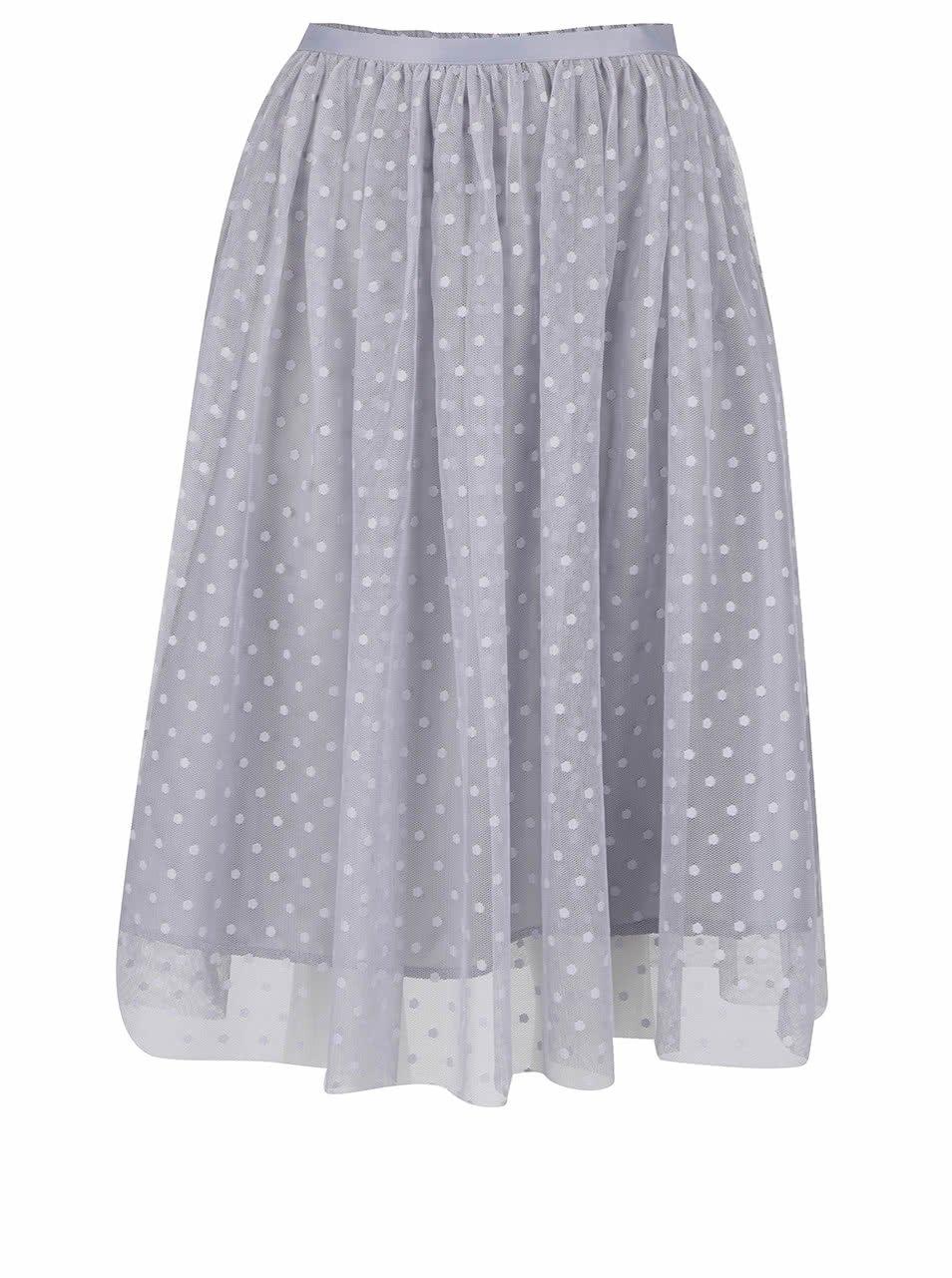 Šedá puntíkovaná tylová sukně ZOOT