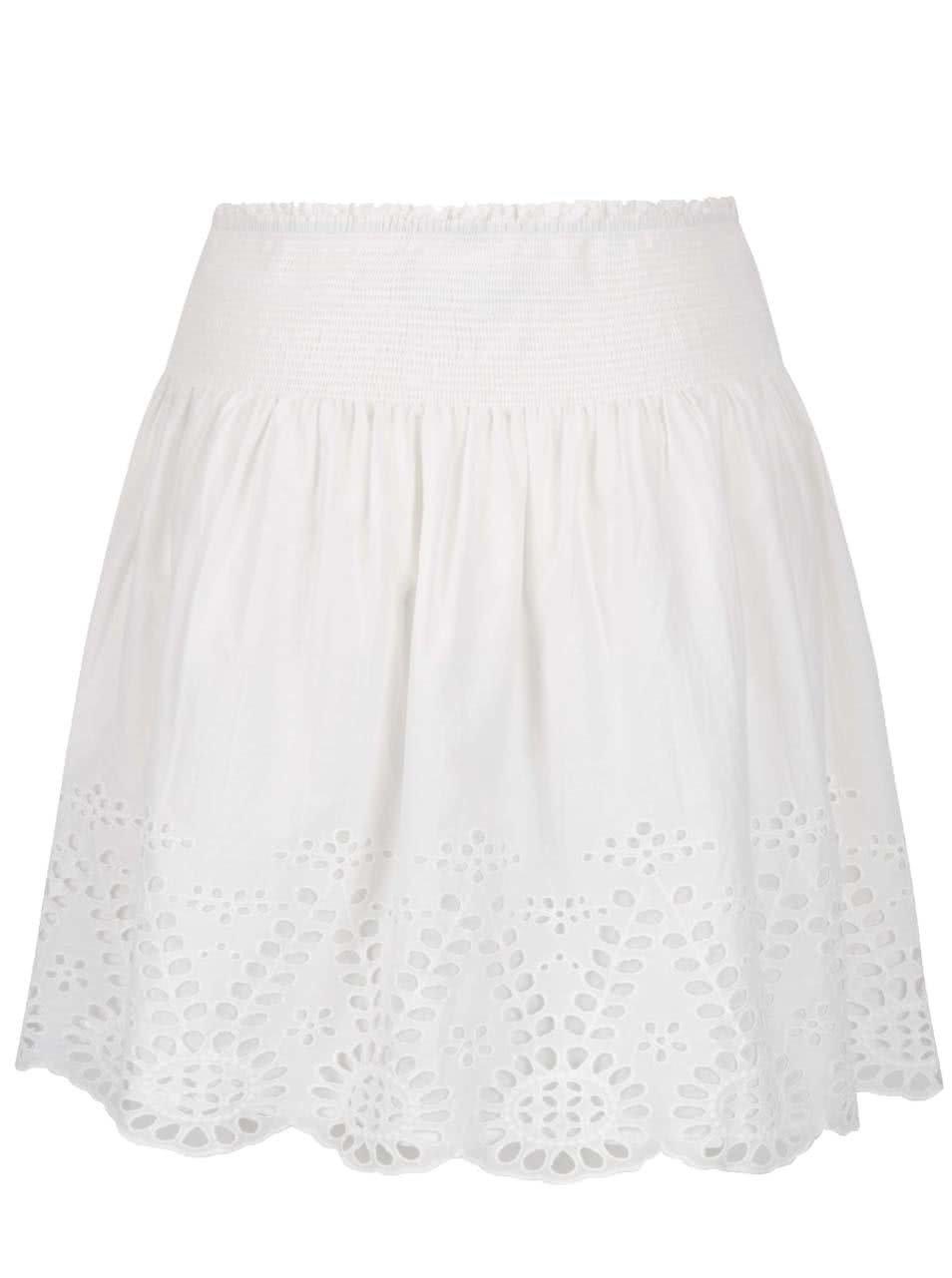 Krémová sukně s krajkou VILA Simma