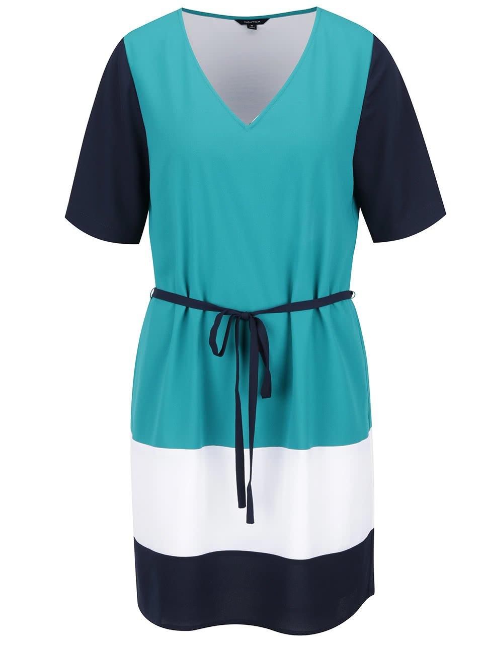 Zelené šaty s pruhy Nautica