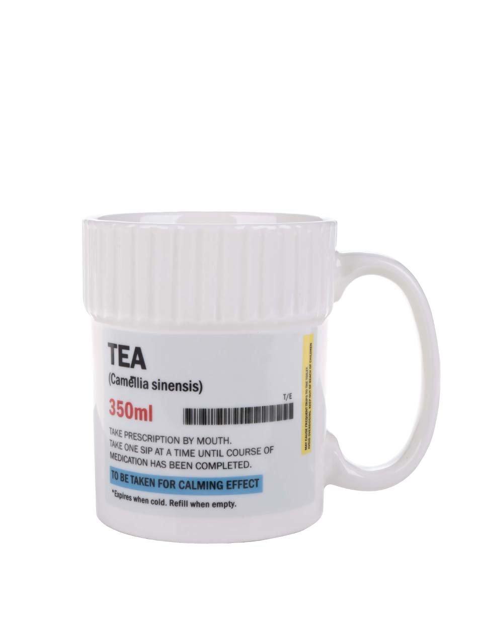 Bílý hrnek na předpis Gift Republic Tea