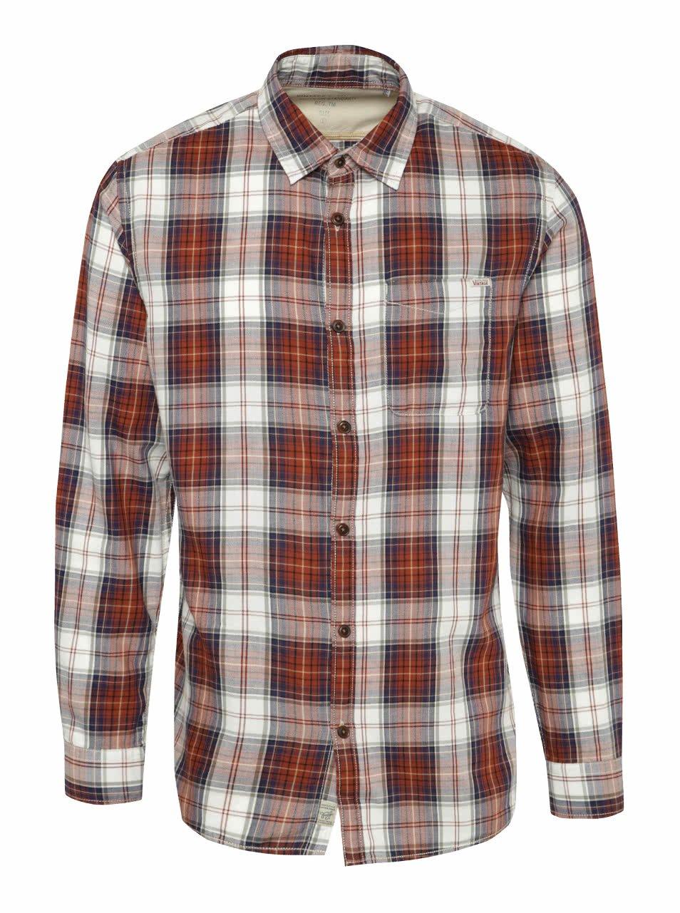 Hnědá kostkovaná košile Jack & Jones Campo