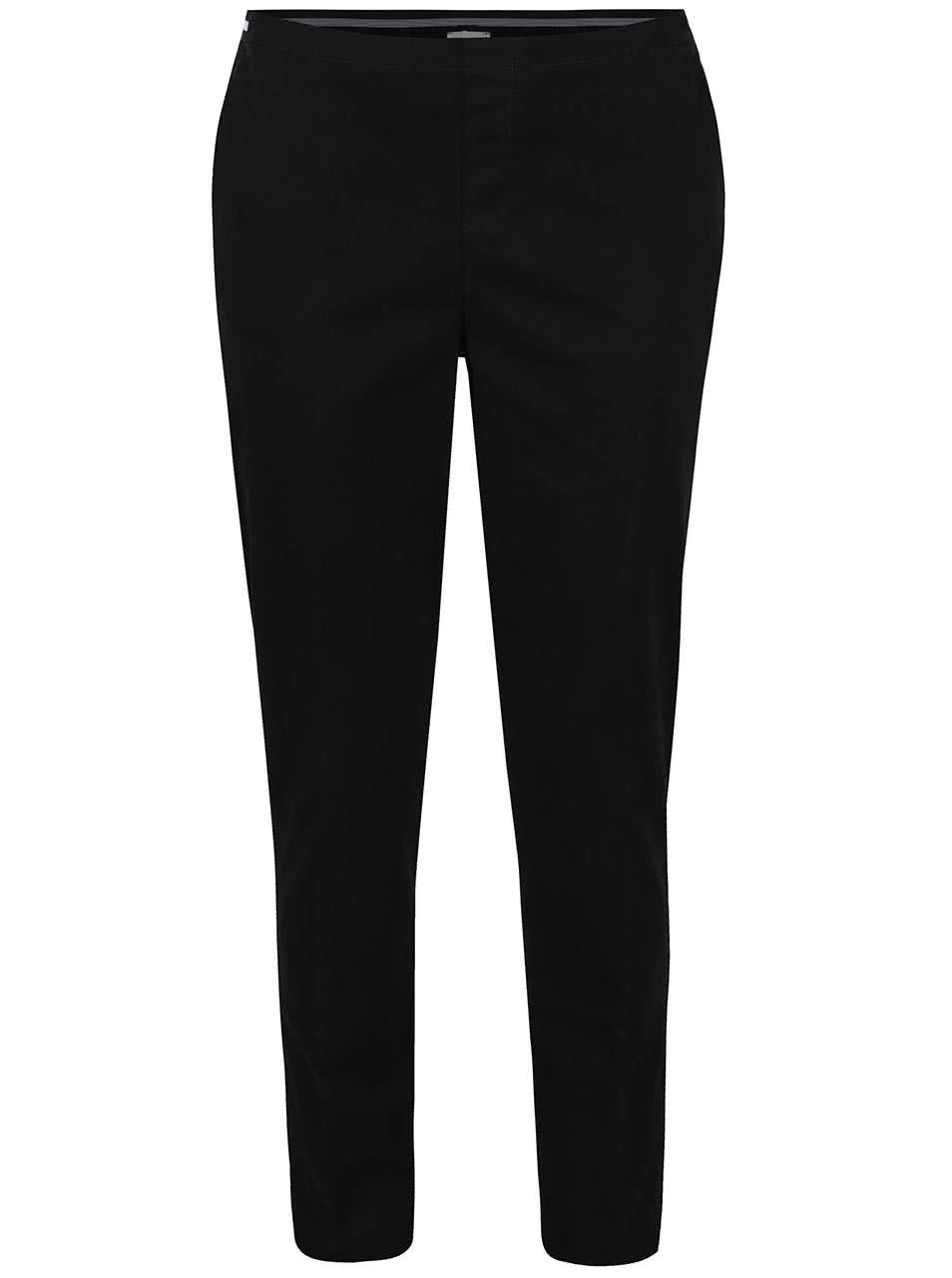 Černé elastické kalhoty Gina Laura