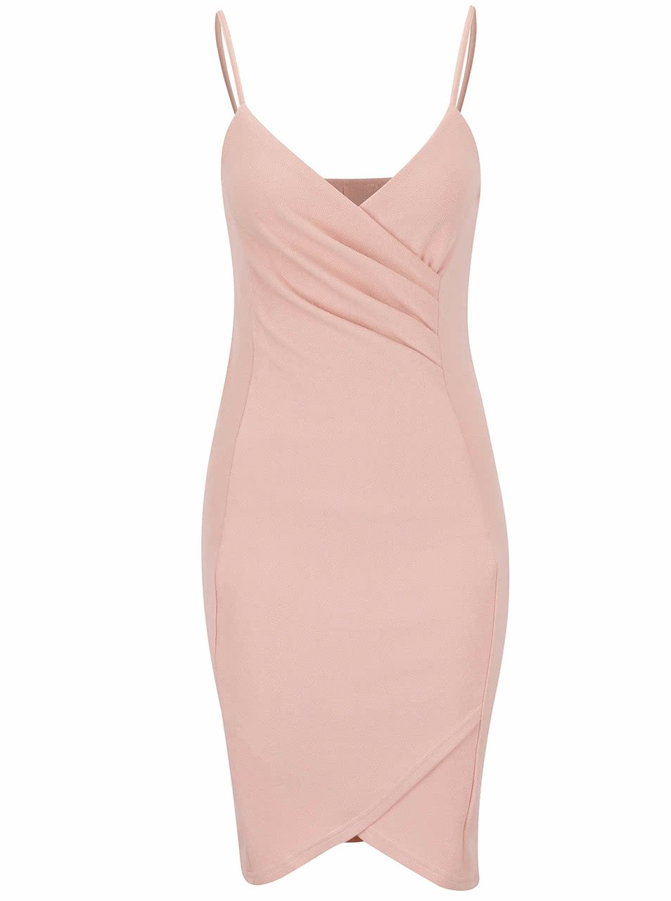Růžové šaty s řasením AX Paris
