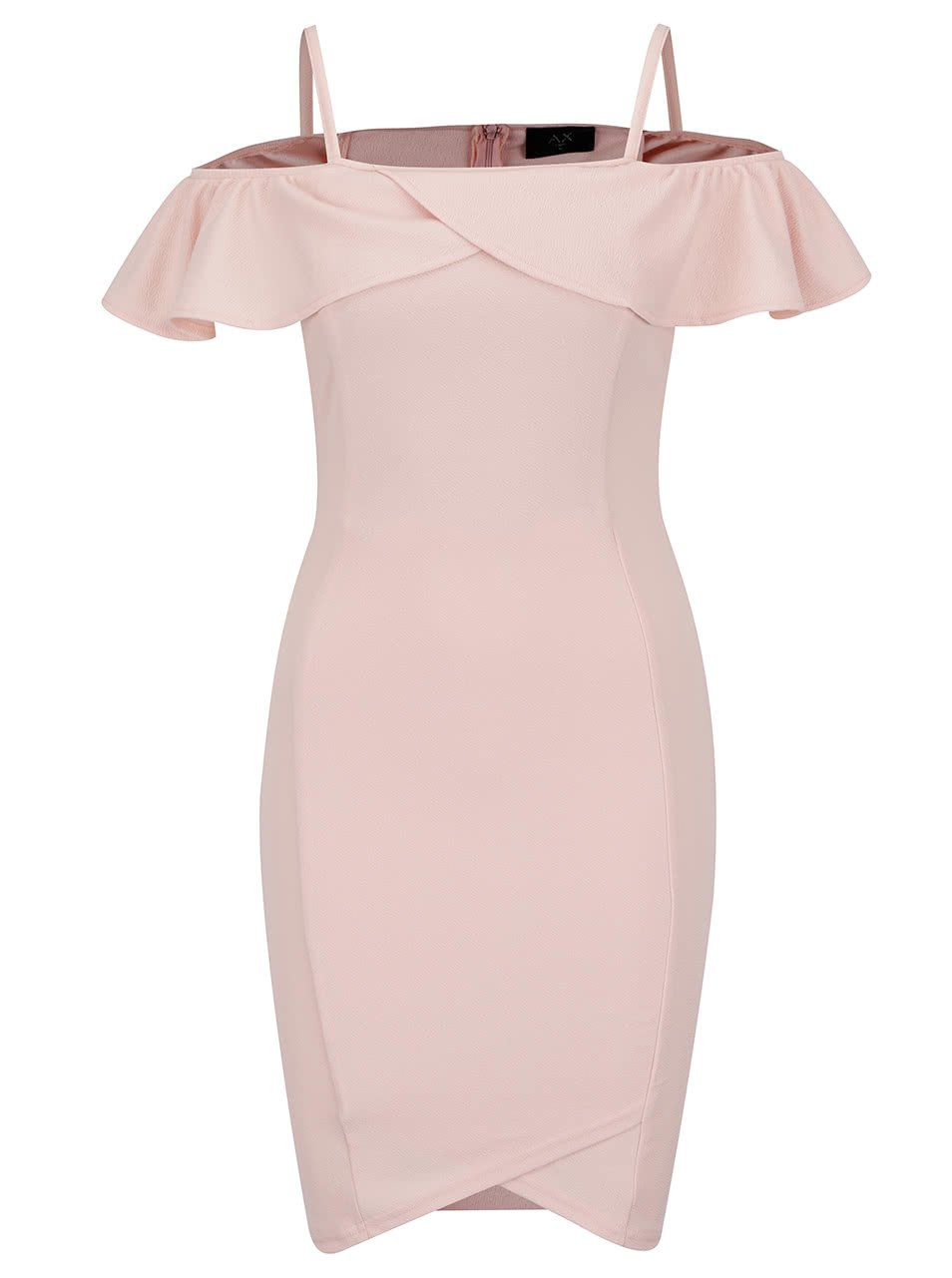 Růžové šaty s odhalenými rameny AX Paris