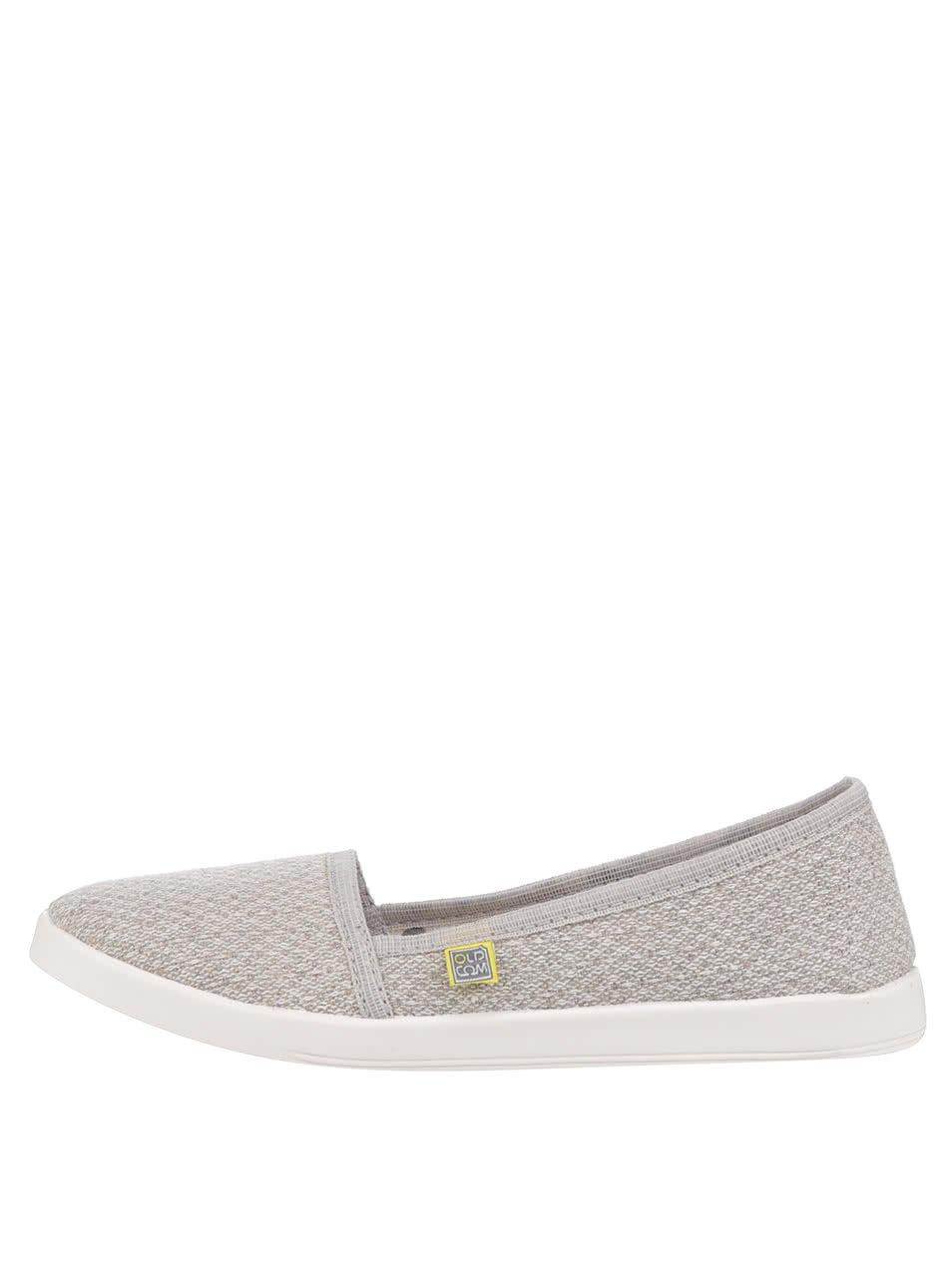 Béžové dámské loafers Oldcom Flax Linen