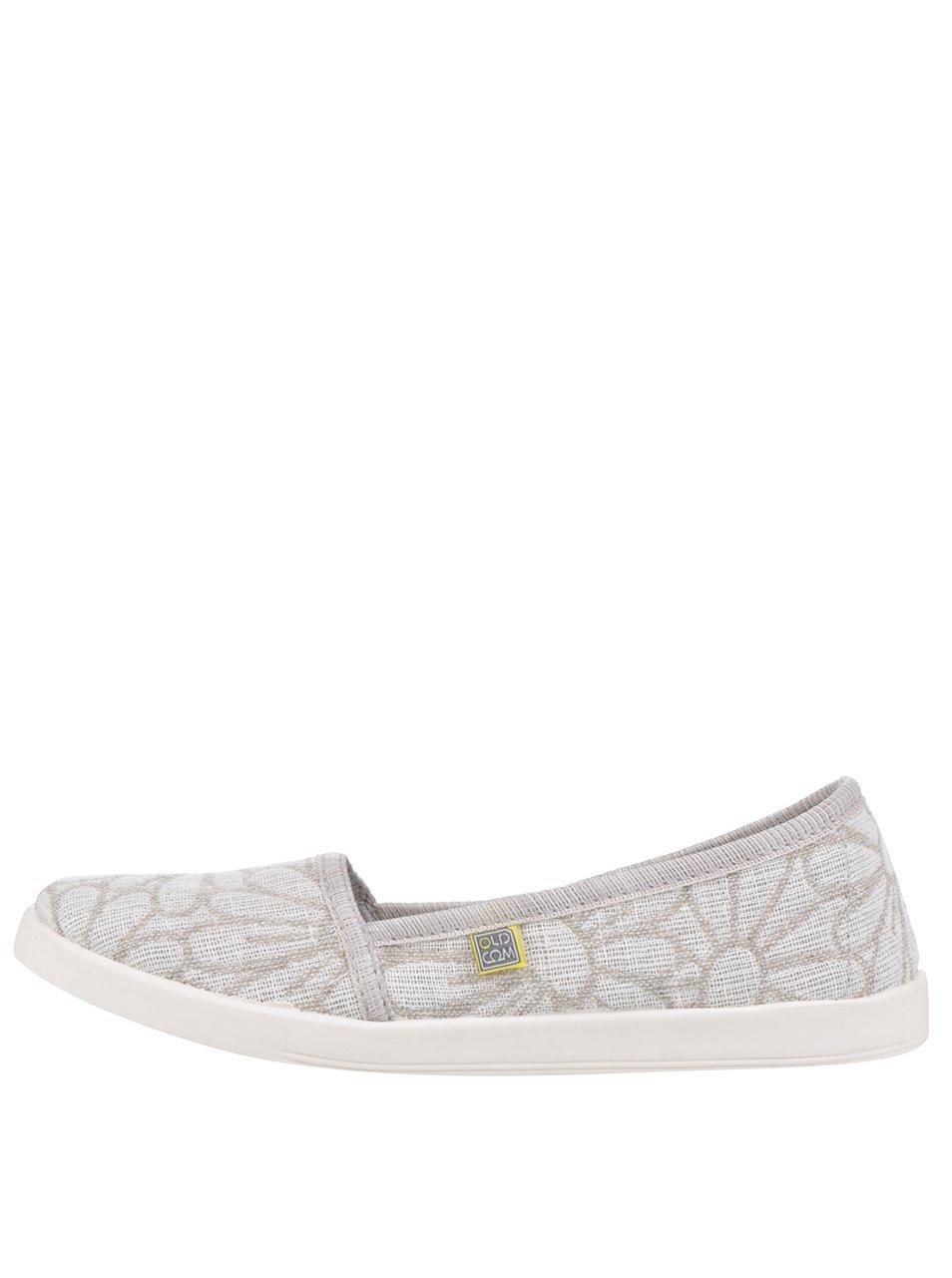 Béžové dámské květované loafers Oldcom Camomille