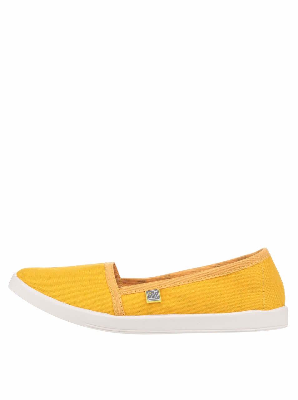 Žluté dámské loafers Oldcom Canvas