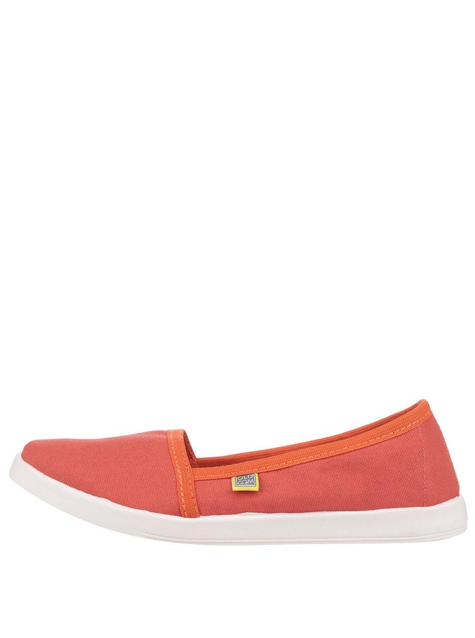 Oranžové dámské loafers Oldcom Canvas