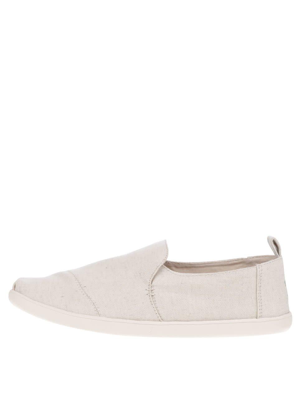 Krémové pánske loafers s výšivkou TOMS