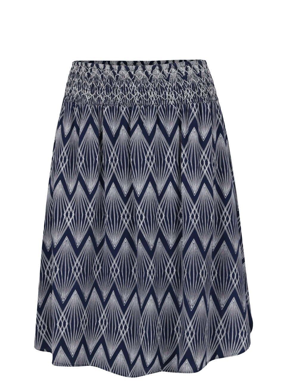 Modrá vzorovaná áčková sukně Broadway Estella
