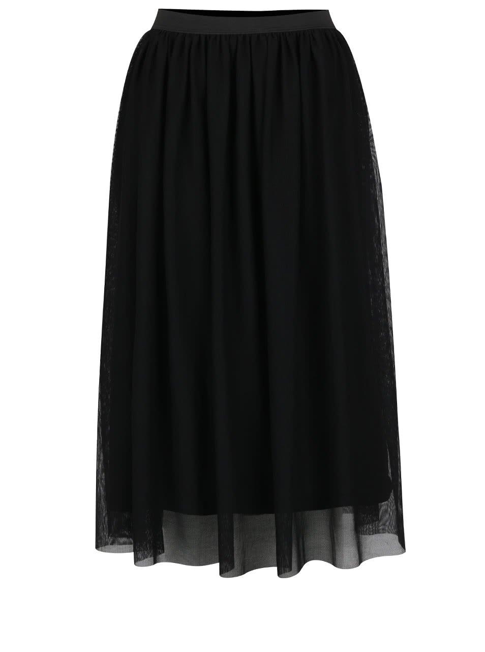 Černá midi sukně Miss Selfridge