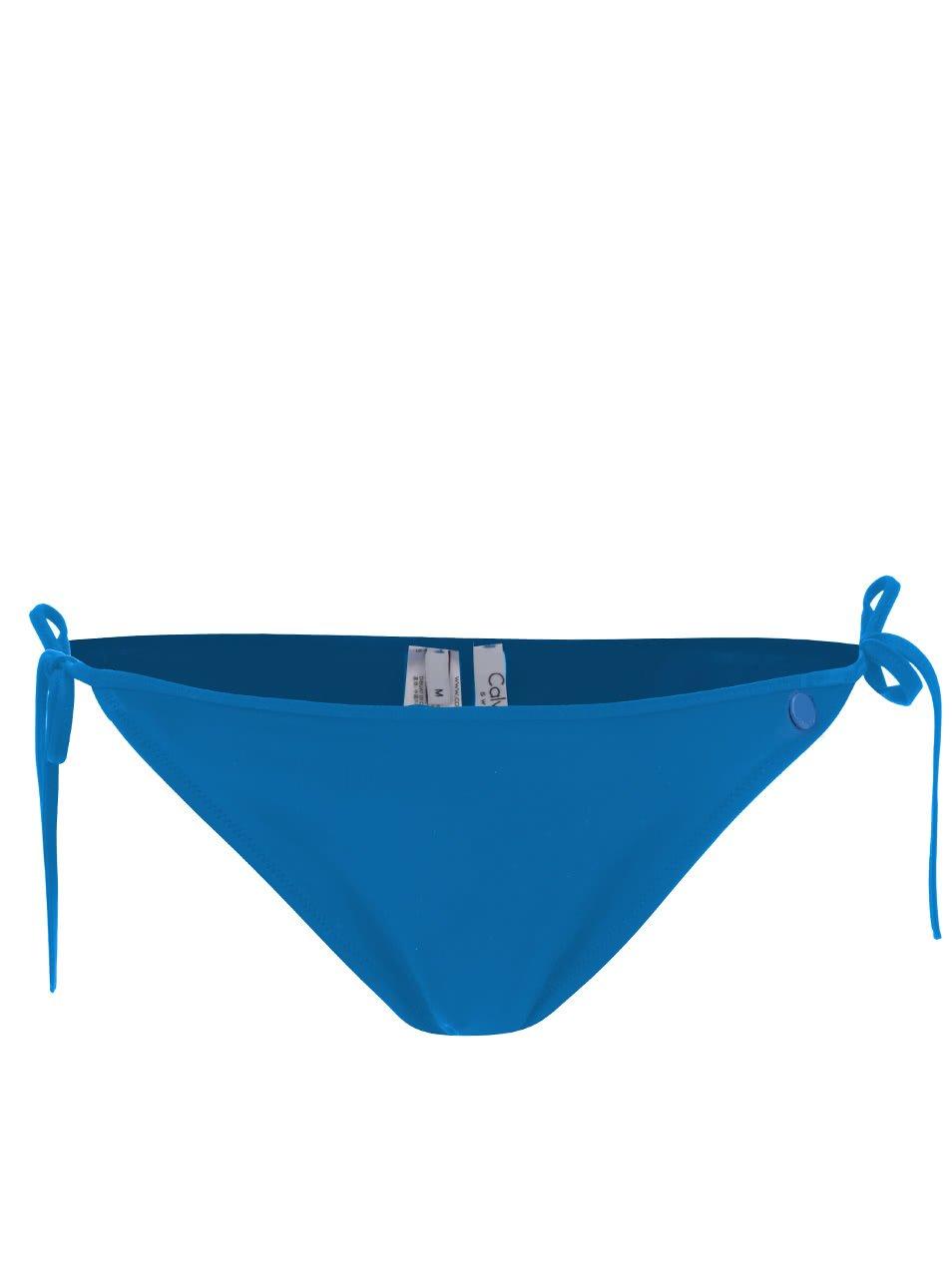 Modrý spodní díl dámských plavek Calvin Klein