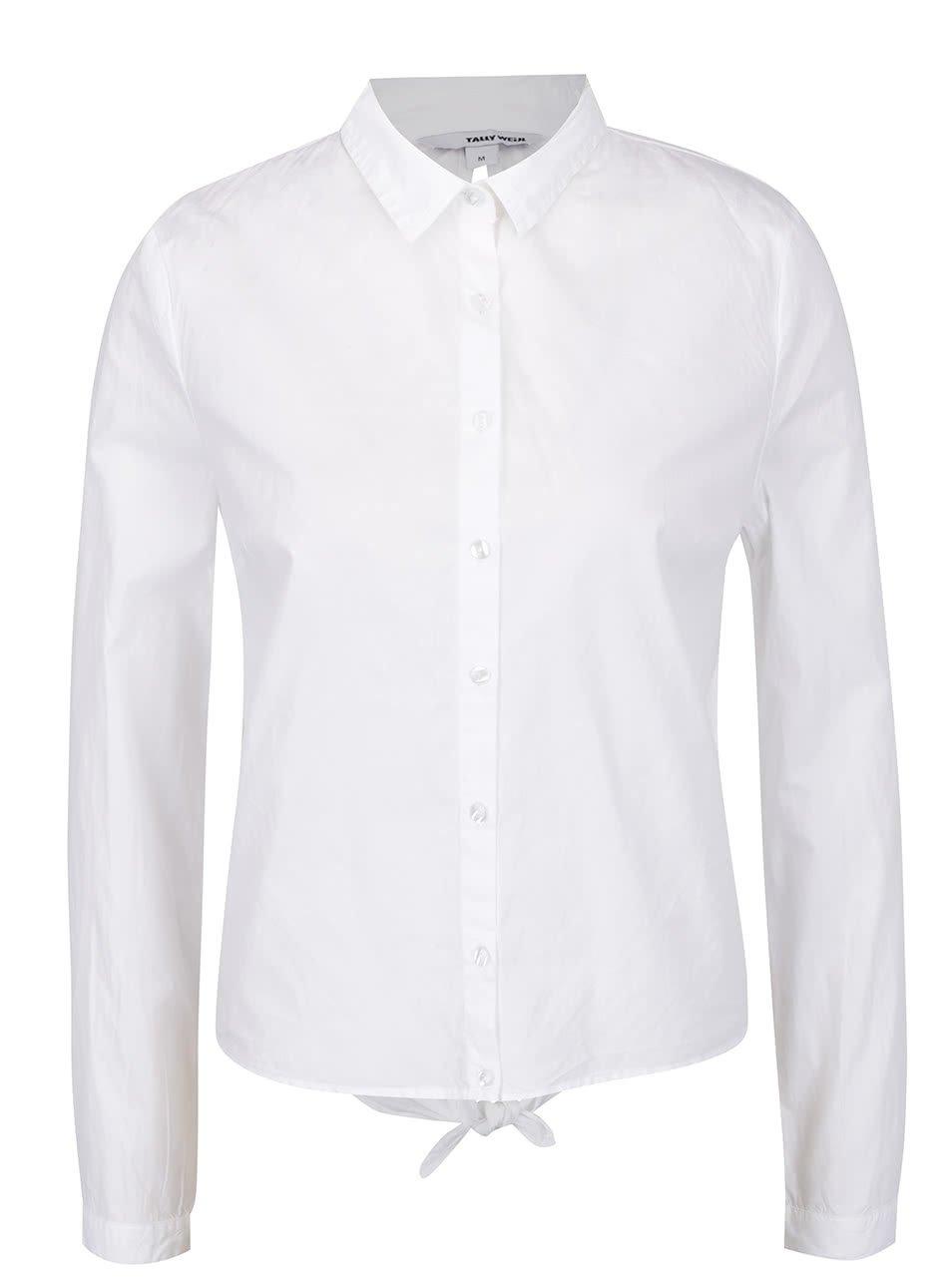 Bílá košile s odhalenými zády TALLY WEiJL
