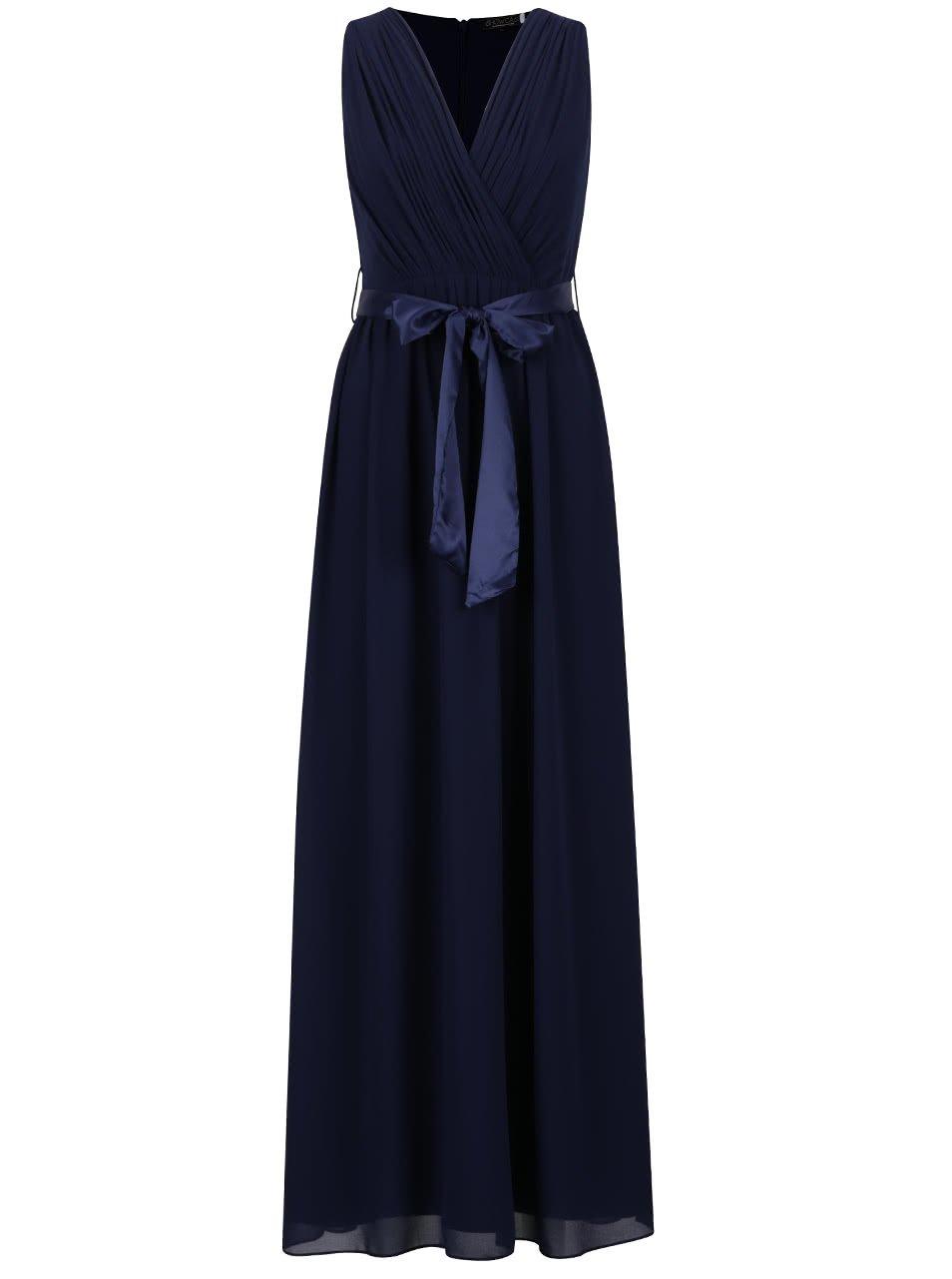 Tmavě modré dlouhé šaty Dorothy Perkins