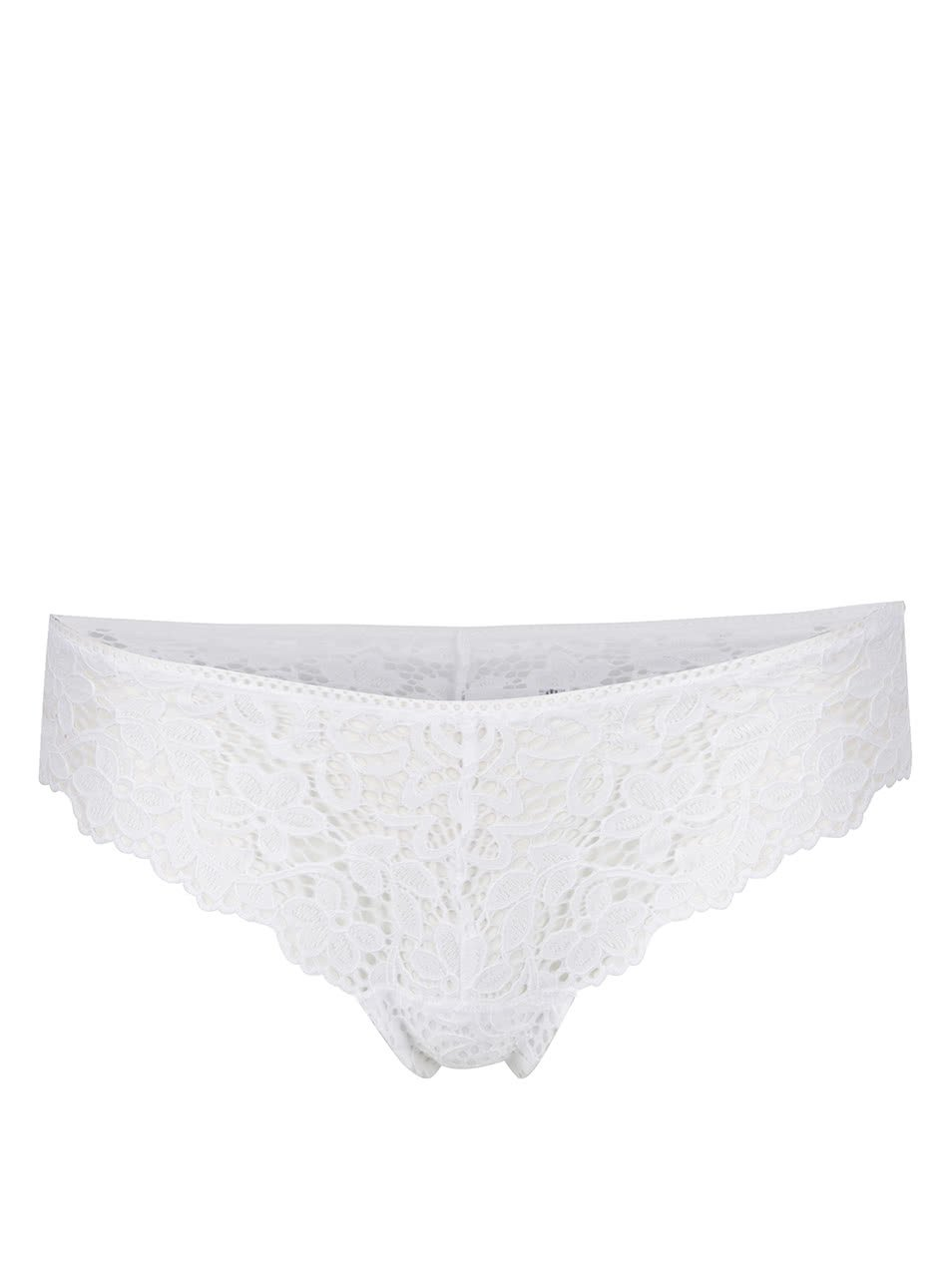 Bílá krajková tanga DKNY