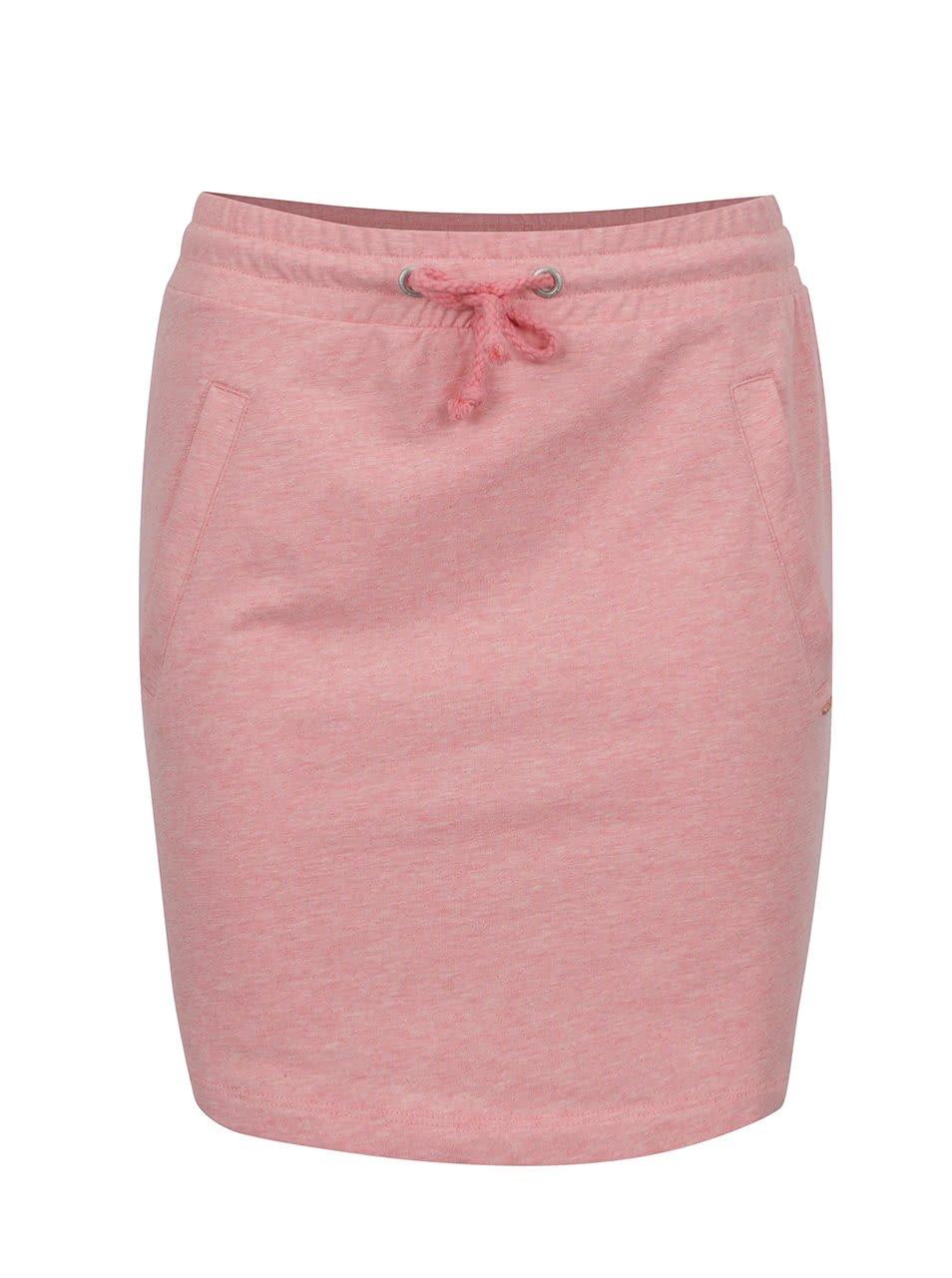 Růžová žíhaná tepláková sukně ONLY Petra