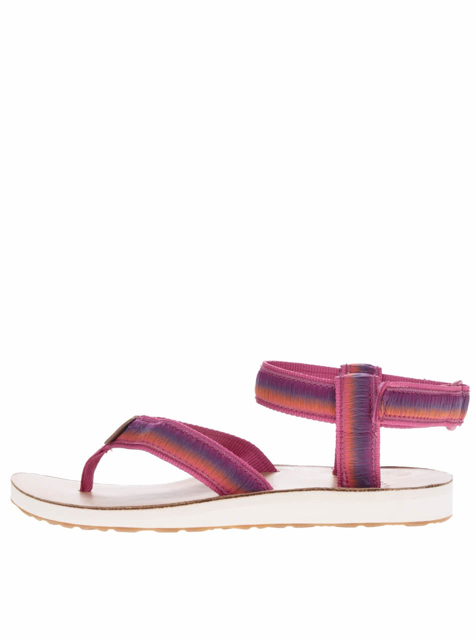 Tmavě růžové žíhané dámské sandály Teva