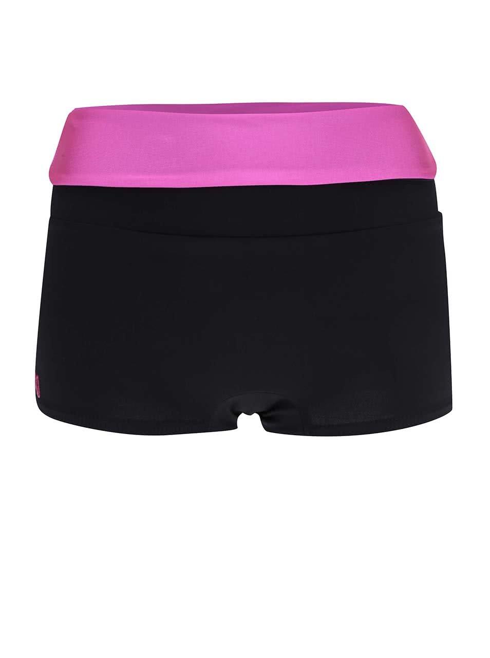 Ružovo-čierne športové kraťasy Mania fitness wear Invert