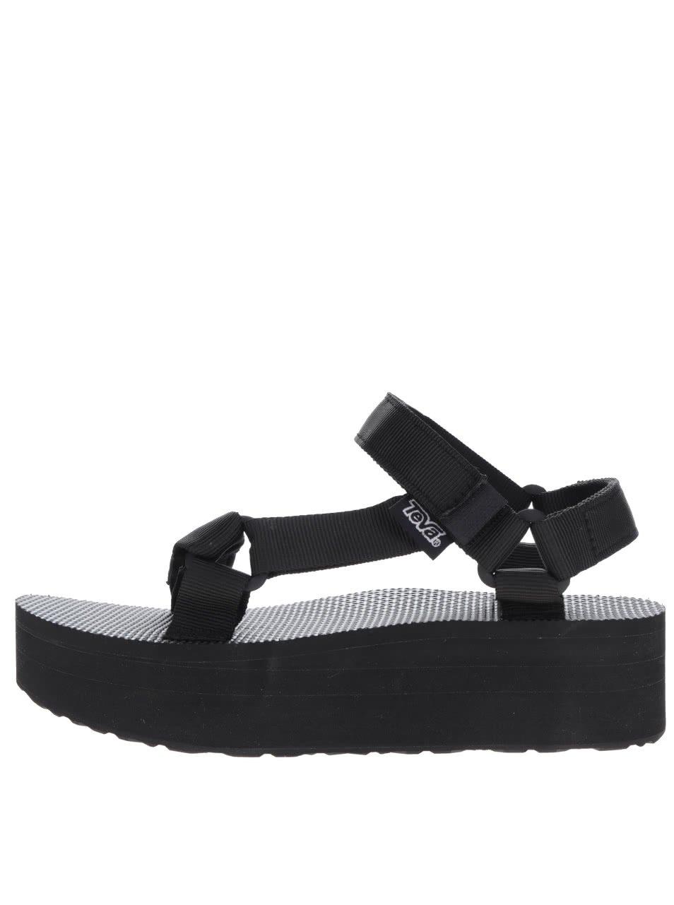Černé dámské sandály na platformě Teva