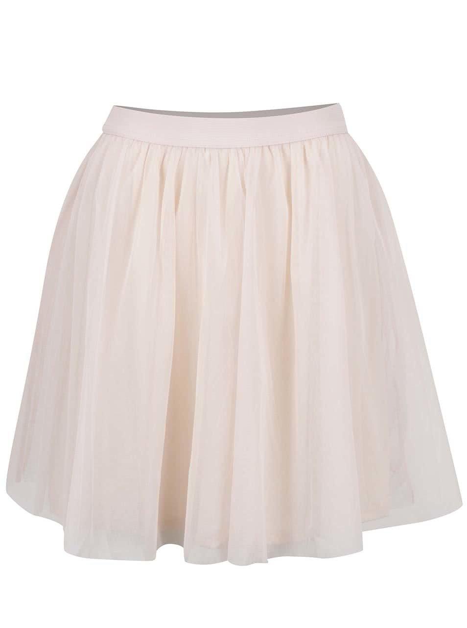 Světle růžová tylová sukně VILA Balina