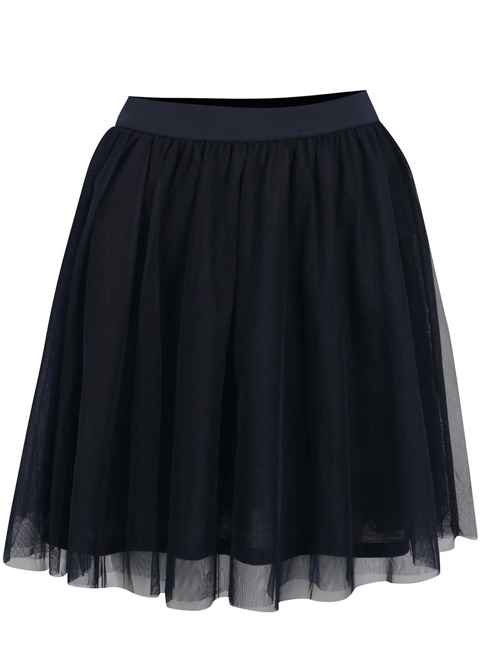 Tmavě modrá tylová sukně VILA Balina