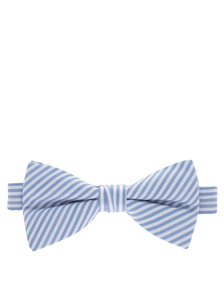 Světle modrý pruhovaný motýlek Selected Homme Norman