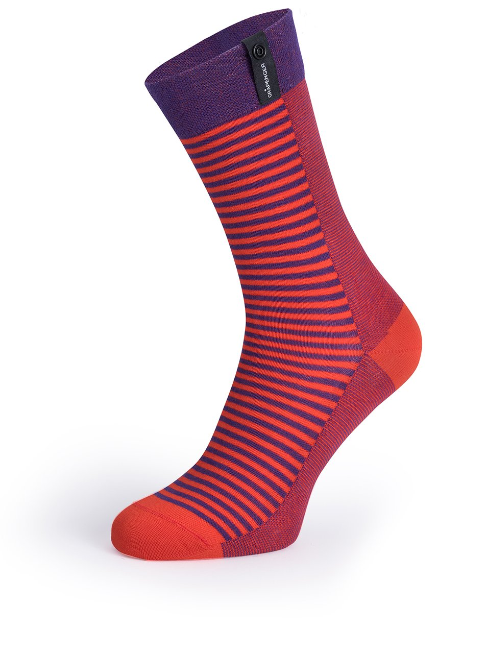 Fialovo-červené pruhované unisex ponožky V páru