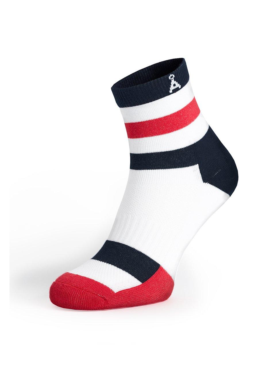 Červeno-bílé sportovní unisex ponožky V páru